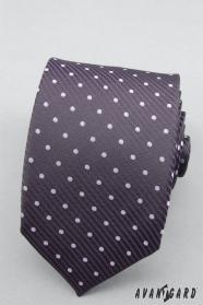 Gepunktete violette Krawatte lila Tupfen