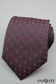 Lila Krawatte quadratisches Muster