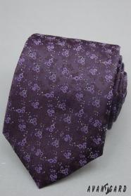 Dunelviolette Krawatte feine Blümchen