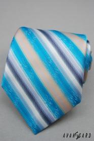 Türkis Krawatte mit breiten Streifen