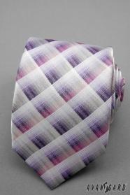 Karierte Krawatte rosa violett