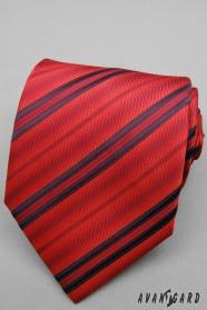 Rote gestreifte Krawatte