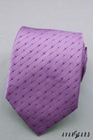 Violette Krawatte mit feinen Pünktchen
