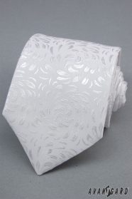 Weiße Krawatte mit einem glänzenden Muster