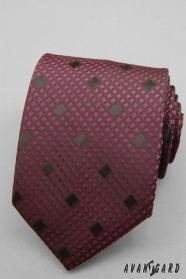 Karierte Krawatte bordeaux