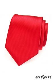 Herren Krawatte rot mit feinen Streifen