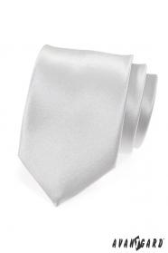 Weiße glatte Krawatte glänzend