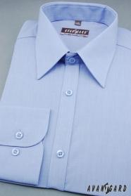Herren Hemd mittelblau Ausverkauf
