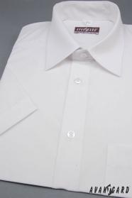 Herren Hemd  kurzarm  Weiß