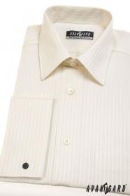 Herren Hemd  für Manschettenknöpfe  Beige