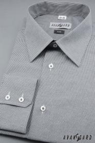 Herren Hemd SLIM langarm  Grau