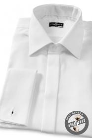 Herren Hemd SLIM verdeckte Knopfleiste, MK  Weiss