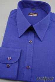 Herren Hemd SLIM mit Langarm  Königsblau Ausverkauf