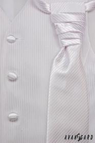 Hochzeitsweste mit Krawatte und Einstecktuch weiß Gr. 54