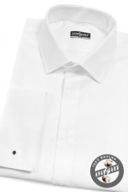 Herren weißes Hemd SLIM verlängerte Größe