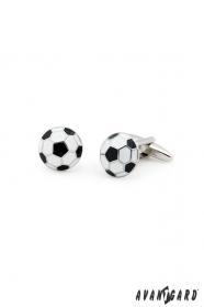Fußball-Manschetten Knöpfe schwarz-weiß