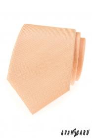 Strukturierte lachsfarbene LUX Krawatte