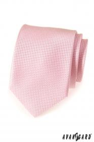 Rosa strukturierte LUX Krawatte für Männer