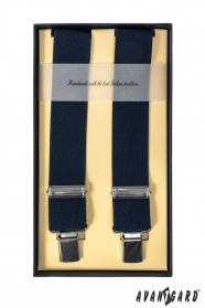 Luxuriöse dunkelblaue Vier-Punkt-Hosenträger