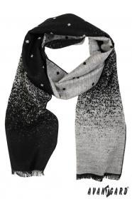 Eleganter Herren Schal, schwarz-grau