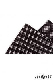 Blaues Einstecktuch schwarz mit weißem Punkt