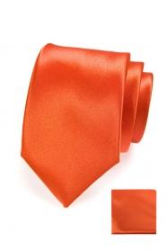 Orange Krawatte im Set mit Einstecktuch