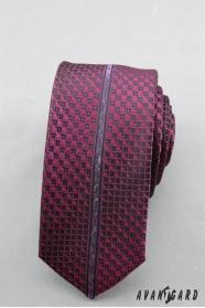 Schmale Krawatte mit lila Muster