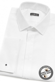 Herren weißes Frackhemd SLIM