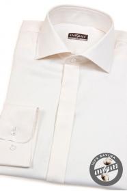 Herren Baumwoll-Hemd SLIM beige