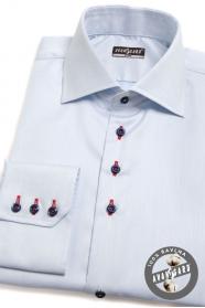 Blaues SLIM Hemd mit bunten Accessoires