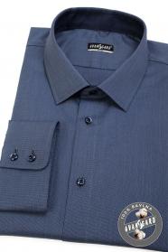 Blaues Hemd SLIM Langarm, blaue Knöpfe