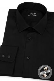 Schwarzes Herren Hemd SLIM aus Baumwolle