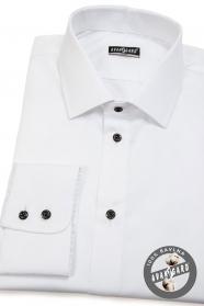Weißes slim Herrenhemd aus 100% Baumwolle