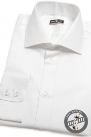 Herren Hemd SLIM weiß aus 100% Baumwolle