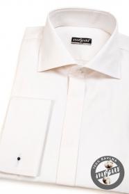 Herren Hemd SLIM mit verdeckter Knopfleiste für MK  Creme