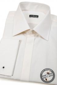 Herren Hemd SLIM verdeckte Knopfleiste für MK  Beige