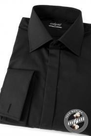 Herren Hemd SLIM aus Baumwolle  Schwarz