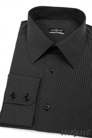 Hemd SLIM schwarz mit feinem Streifen
