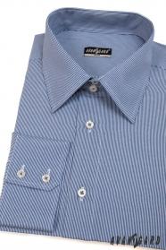 Herren Hemd SLIM mit blau-weißen Streifen