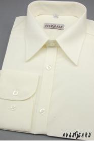 Herren Hemd SLIM beige 80% Baumwolle