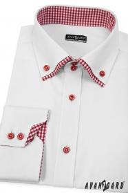 Weißes Herren Hemd mit langen Ärmeln SLIM