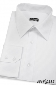 Herren Hemd SLIM weiß mit einfachen Streifen