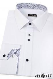 Modernes weißes slim Hemd mit langen Ärmeln