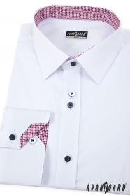 Weißes Herrenhemd Tricolor