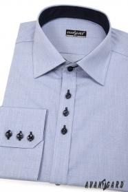 Herren Hemd SLIM blau mit dunklen Knöpfen
