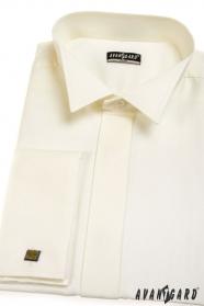 Smokinghemd SLIM für Manschettenknöpfe  Beige