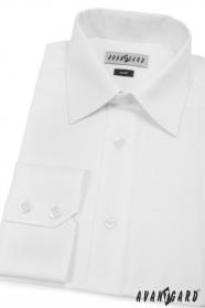 Herren Hemd SLIM mit langen Ärmeln  Weiß
