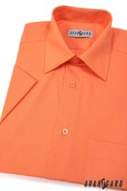 Herren Hemd  kurzarm  Orange