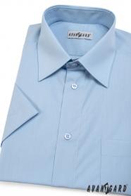 Herren Hemd  kurzarm  Hellblau