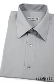 Herren Hemd  mit Kurzarm  Grau